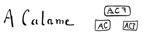 la signature de Alexandrecalame