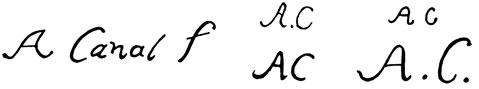 la signature de Antoniocanaletto-canal