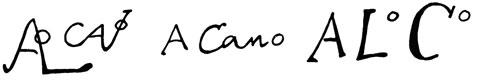 la signature de Alonsocano