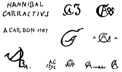 la signature de Annibalecarracci-1560