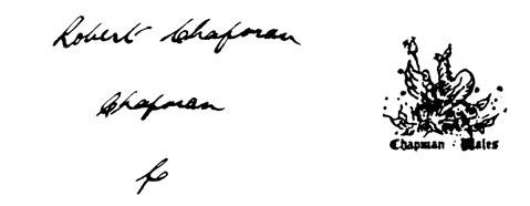 la signature de Robertchapman