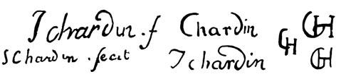 la signature de Jean Baptiste Simeonchardin