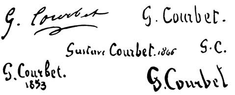 la signature de Gustavecourbet