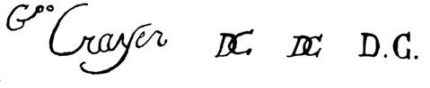 la signature de Jasper (or Caspar)Decrayer
